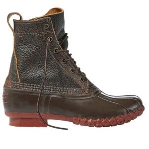 L.L. Bean Boots Brown & Red     LL Bean Bean Boots